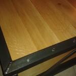 Création de mobilier: Table basse en fer et bois sur mesure 1