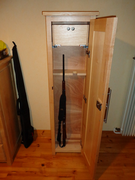Cr ation d un meuble fusils lc creation mobilier - Armoire a fusil ...