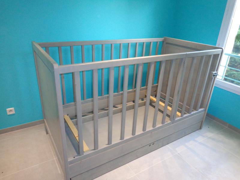 Cr ation d un lit pour b b sur mesure lc creation mobilier - Mesure d un lit 2 places ...